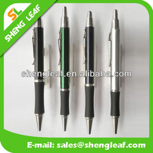Black rubber grip with high quality metal ballpens