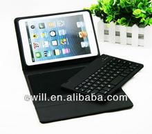 for ipad mini PU bluetooth keyboard cover case