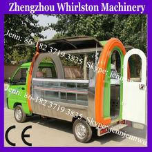 electric type mobile kitchen food van/fruits vending cart/coffee kiosk design