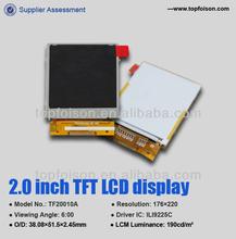 Custom 2.0inch TFT screen display for consumer electronics