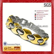 Simple line assembly design mens stainless steel bracelets novelty