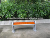 Mordern outdoor backless wood bench with steel bench brackets