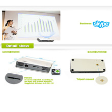 Wholesale Cheapest Mini WIFI V20 1.0GHZ Dual Core Android 4.2.3 Bluetooth 2.0 20000h 15w 180g Projector Pen By Salange
