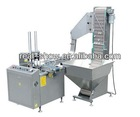 Fully automatic plastic cap arranging/liner cutting and feeding machine