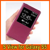 2014 smart sleep wake flip leather cover cases for Samsung galaxy s5 i9600