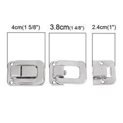 Toggle Catch Latch Suitcase Case Box Trunk Box Silver Tone 3.8cm x 2.7cm 2.7cm x 2.4cm,20 Sets,Fashion