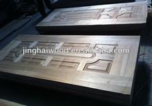 HDF natural fancy wood veneer moulded skin door 3mm 3.2mm
