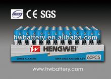 LR03/AAA 60PCS PER TRAY BOX DRY BATTERY