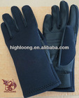2.5mm waterproof neoprene gloves with leather palm