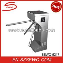 security tripod turnstile gate. RFID semi-automatic Vertical Tripod turnstile.