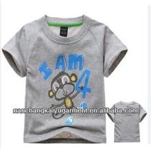 New style kids tops, monkey printed tshirt, Children's short sleeve tshirt