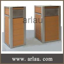 Arlau BW80 outdoor furniture wooden recycling bin garbage bin