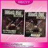 Black cat printing ziplock bag/ herbal incense bag with high quality