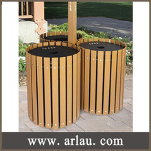 Arlau BW97 outdoor furniture wooden recycling bin garbage bin