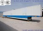 3 axles hydraulic truck trailer,Heavy Duty Vehicle/car Truck Trailer for export,