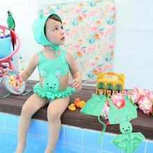 C80606A little girl's lovely rabbit shape swimming suit