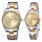 3atm water resistant watch couple watch brand design stainless steel watch