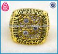 Livraison gratuite 18k or, personnalisée. pittsburgh steelers super bowl champions du monde anneau