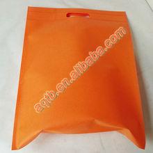non woven orange die cut bag