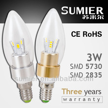 Factory Price high quality 3w led candle bulb e14