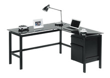 Black Glass Multifunctional Executive Table