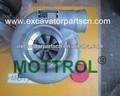Pc120-6 4d102 6732-81-8100 excavadora de turbocompresor piezasdelmotor mt-3206