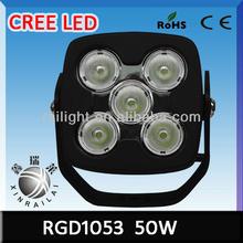 50w led work light ,6500K,4500LM RGD1053 9-32v led worklight high quality led off road light