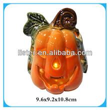 Ceramic artificial halloween pumpkin