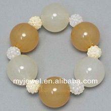 Elegant Lace Pearl multi-layer bangle montana faux marble stretch bracelet