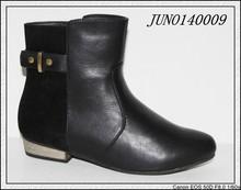 Flat heel shoes lady shoes Boots ,Designer trendy studs flats ladies fashion shoes black