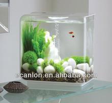 unique lucite plastic fish bowl