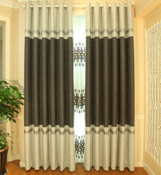 hign-end cotton and linen beautiful design curtains made in china