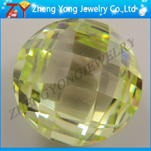 Wuzhou Faceted Cutting Round Zircon Stone