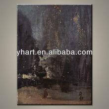 wholesale newest modern handmade black scenery oil painting