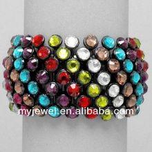 Punk Style Dull Polish Decorated Bending Sheet Bangle - Colorful 2013 hot sale bracelet