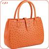 Luxury quality real ostrich skin handbag for women