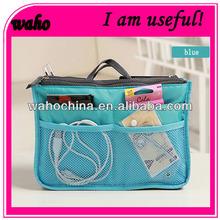 Hottest travel bag organizer bag in bag organizer insert 12 Pockets 10 Colours
