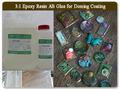 claro broncedoming de resina epoxi para la artesanía
