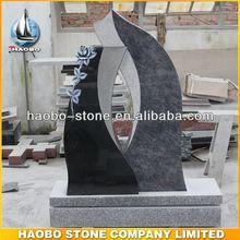 2014 nuevo producto ledger granito lápida con la flor