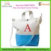 Monogrammed Coral Aqua Joint Canvas Tote Bag Monogram Bags