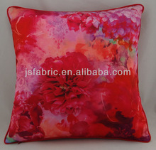 Flower design printed cushion cover