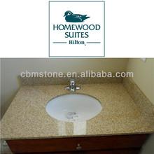 Granite Golden Yellow Bathroom Vanity Top