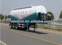 Fonte da fábrica 50000 cbm cimento a granel tanque semi reboque, 3 eixos, 13 ton
