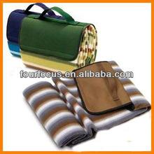 Foldable cashmere picnic waterproof blanket camping sleeping mat blanket