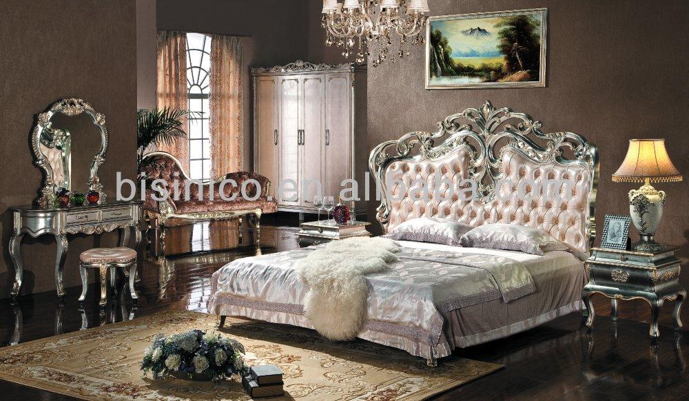 european style bedroom furniture set upholstered