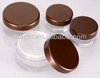 10.20g round loose powder jar with rotating sifter cosmetic loose powder jar makeup jar