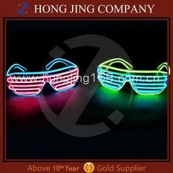 EL Wire Sunglasses, Light Up El Wire Sunglasses, Light Up EL Wire Shutter Shades Sunglasses