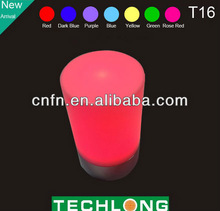 2014 wholesale Decorative rainbow colour cordless usb rechargeable hotel led table lamp