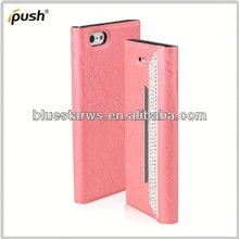Customs cell phone case flip leather case for iphone 5 accessor