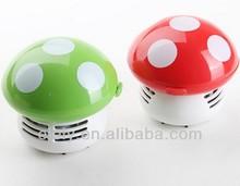 Lovely mini mushroom battery powered keyboard vacuum cleaner